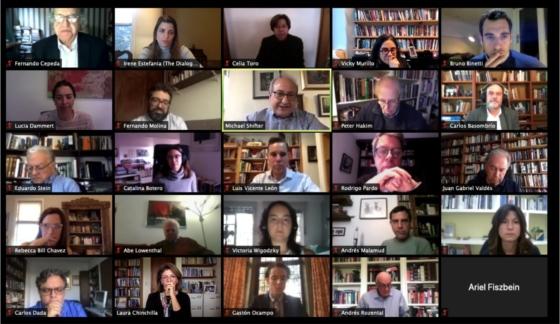 Grupo de Trabajo en reunión por Zoom