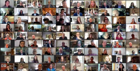 Zoom Collage of Linowitz Participants